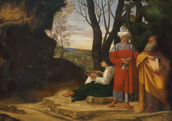 Giorgione (Giorgio da Castelfranco): The Three Philosophers. Fine Art Print/Poster. Sizes: A4/A3/A2/A1 (001929)